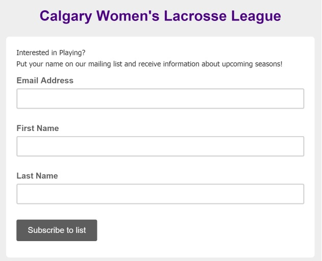 womens lacrosse subscribe mailchimp